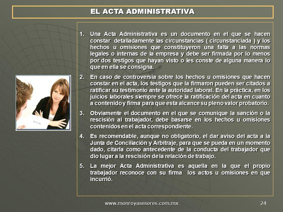 EL ACTA ADMINISTRATIVA