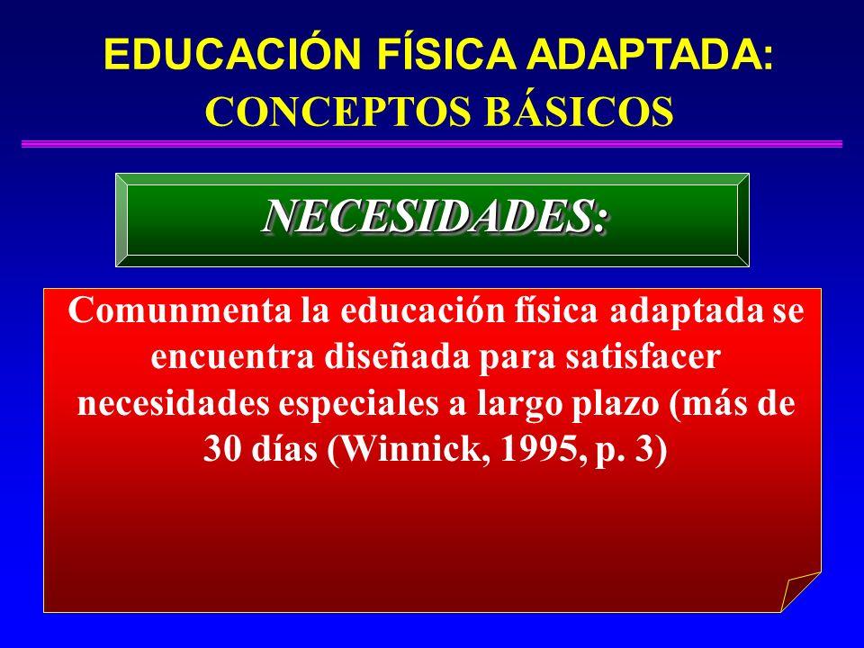 EDUCACIÓN FÍSICA ADAPTADA: CONCEPTOS BÁSICOS