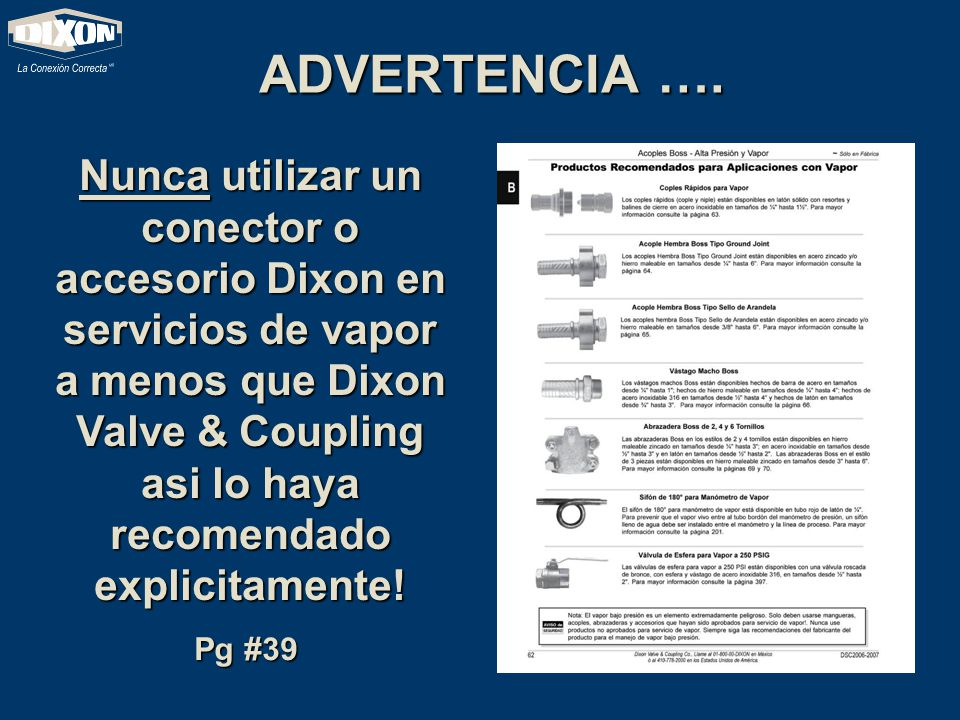 ADVERTENCIA ….