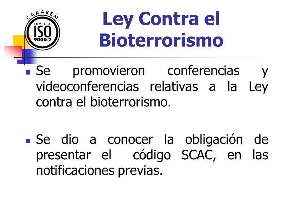 Ley Contra el Bioterrorismo
