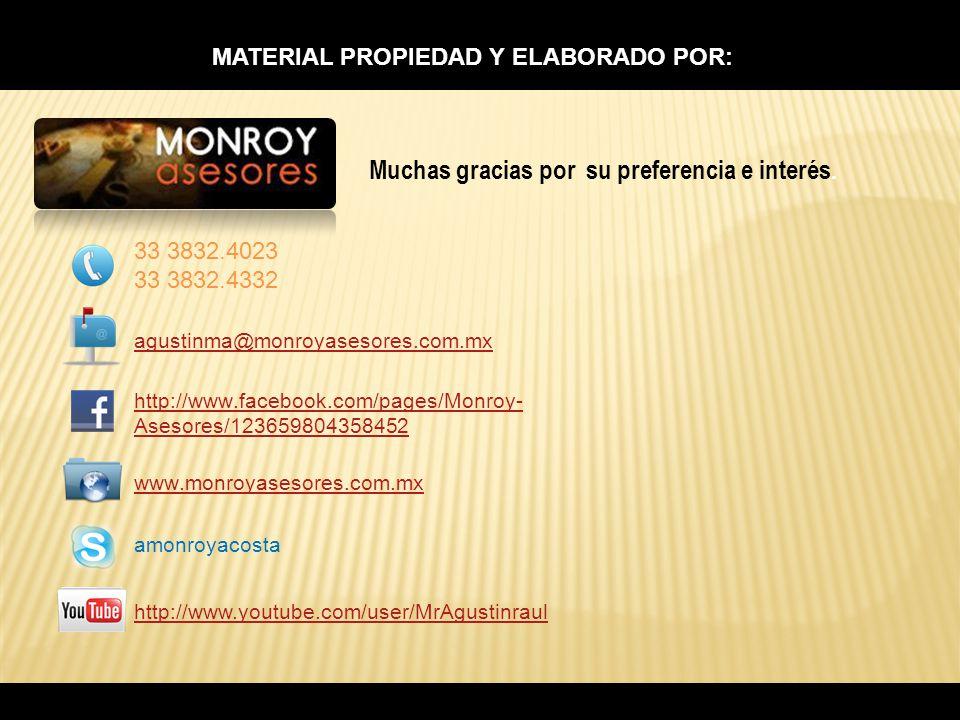 MATERIAL PROPIEDAD Y ELABORADO POR:
