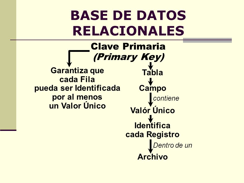 BASE DE DATOS RELACIONALES