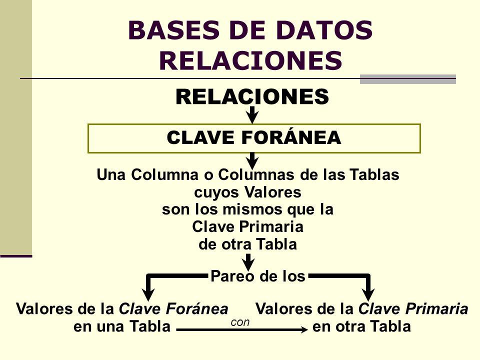 BASES DE DATOS RELACIONES