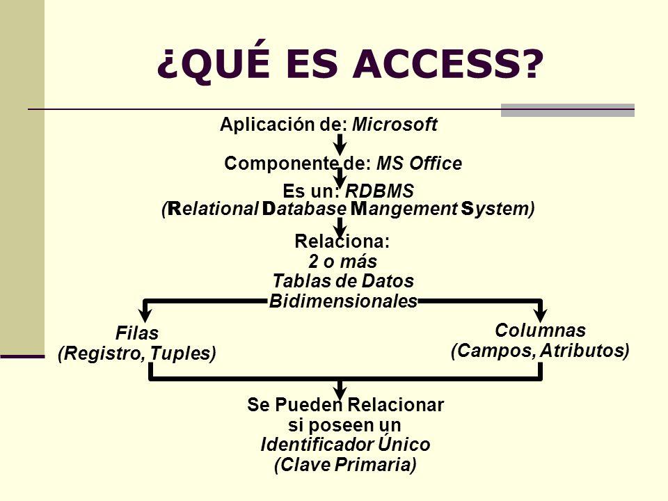 Aplicación de: Microsoft Componente de: MS Office