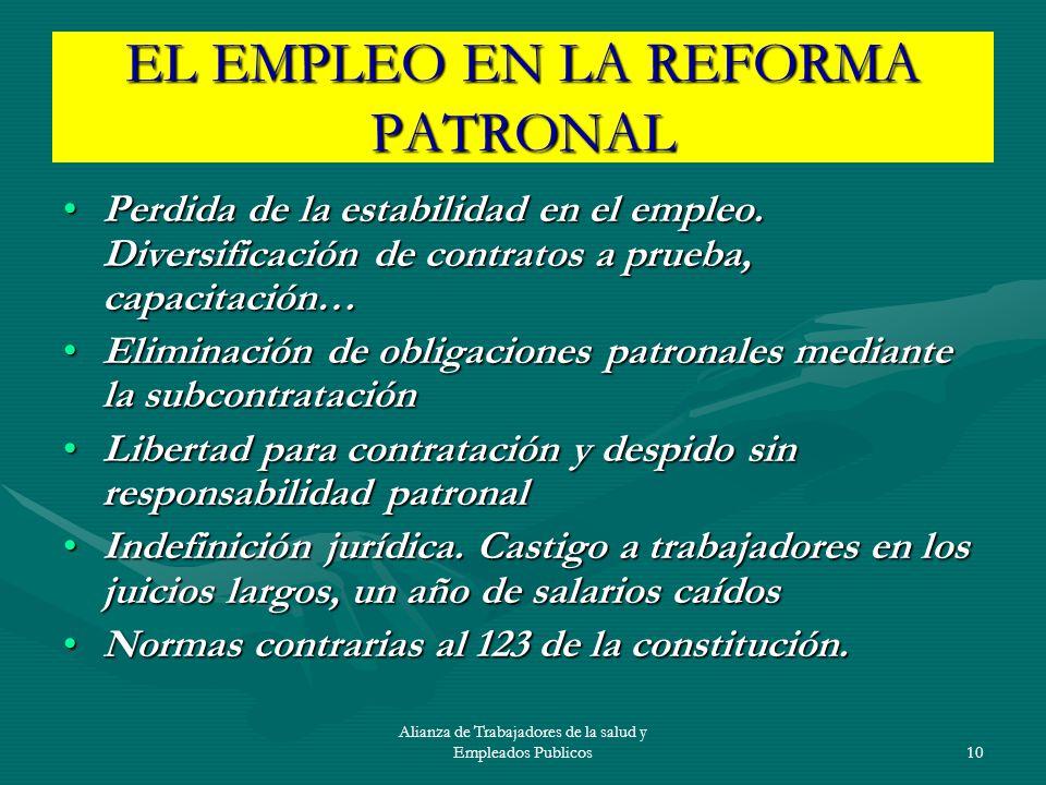EL EMPLEO EN LA REFORMA PATRONAL