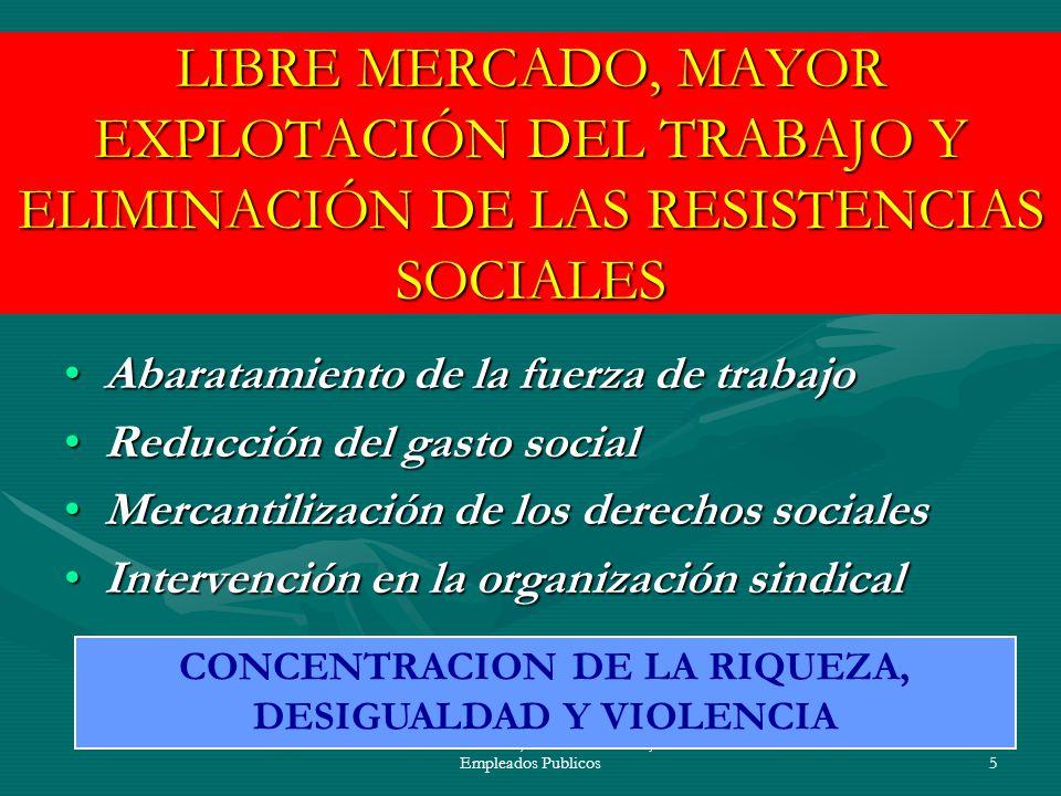 CONCENTRACION DE LA RIQUEZA, DESIGUALDAD Y VIOLENCIA