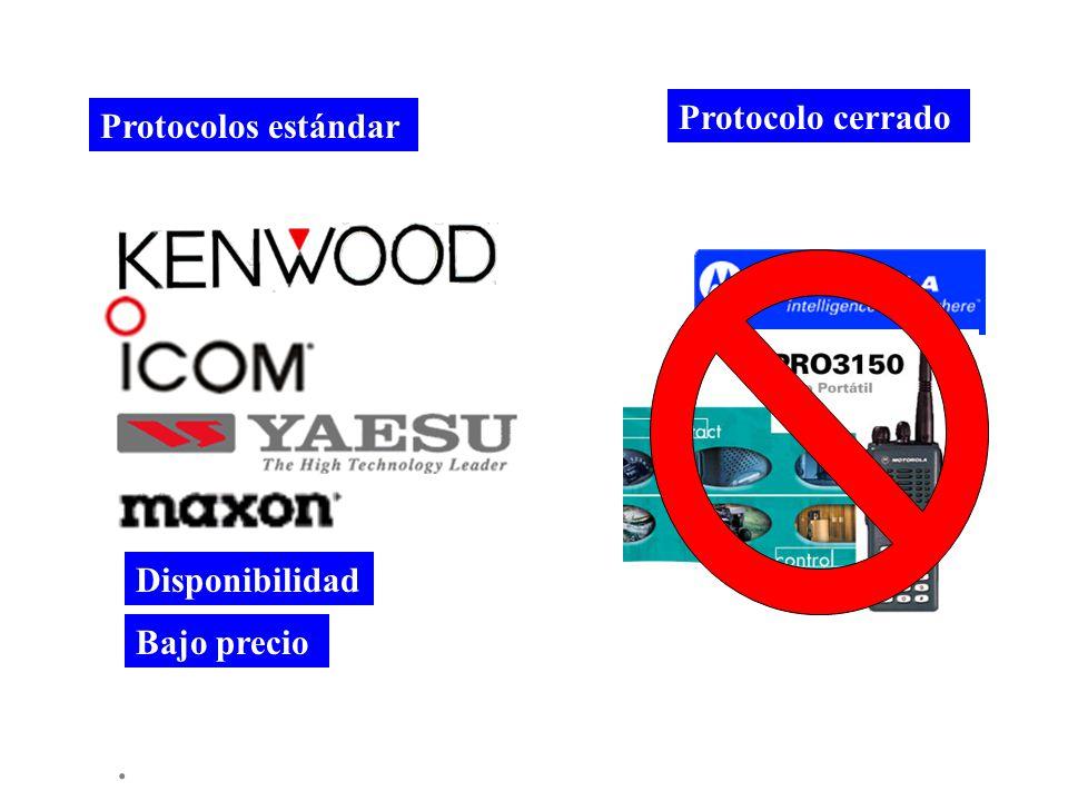 Protocolo cerrado Protocolos estándar Disponibilidad Bajo precio .