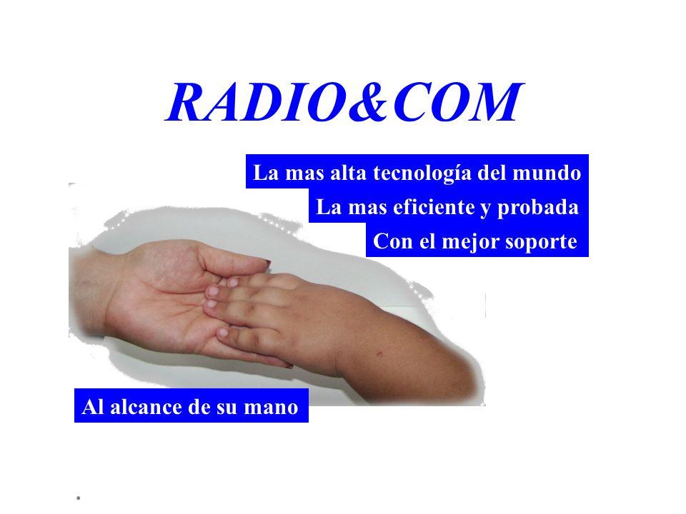 RADIO&COM La mas alta tecnología del mundo La mas eficiente y probada