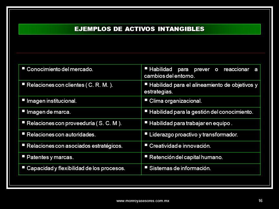 EJEMPLOS DE ACTIVOS INTANGIBLES