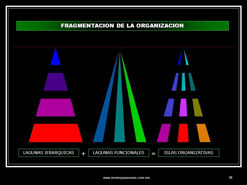 FRAGMENTACION DE LA ORGANIZACION