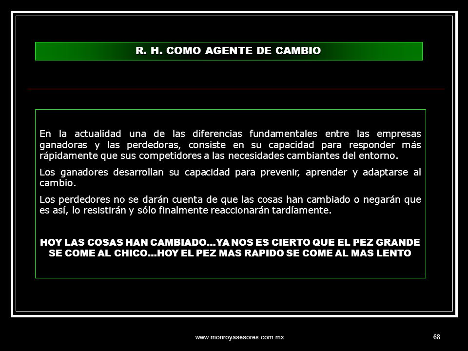R. H. COMO AGENTE DE CAMBIO