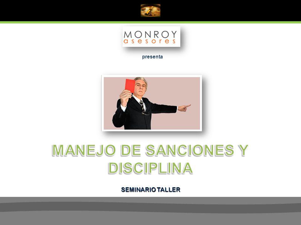 MANEJO DE SANCIONES Y DISCIPLINA