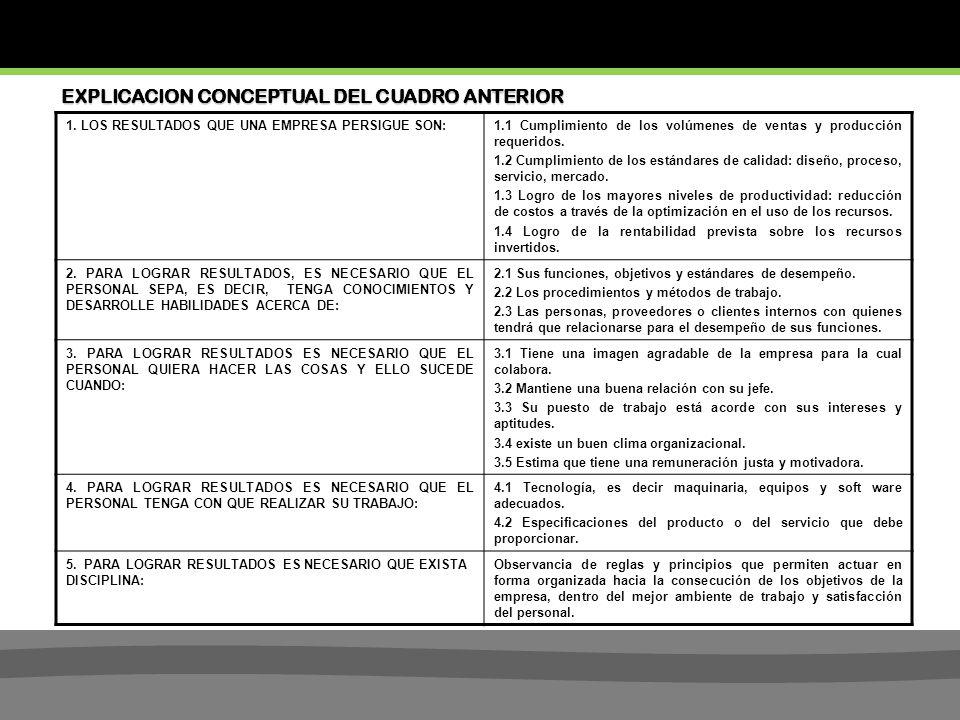 EXPLICACION CONCEPTUAL DEL CUADRO ANTERIOR