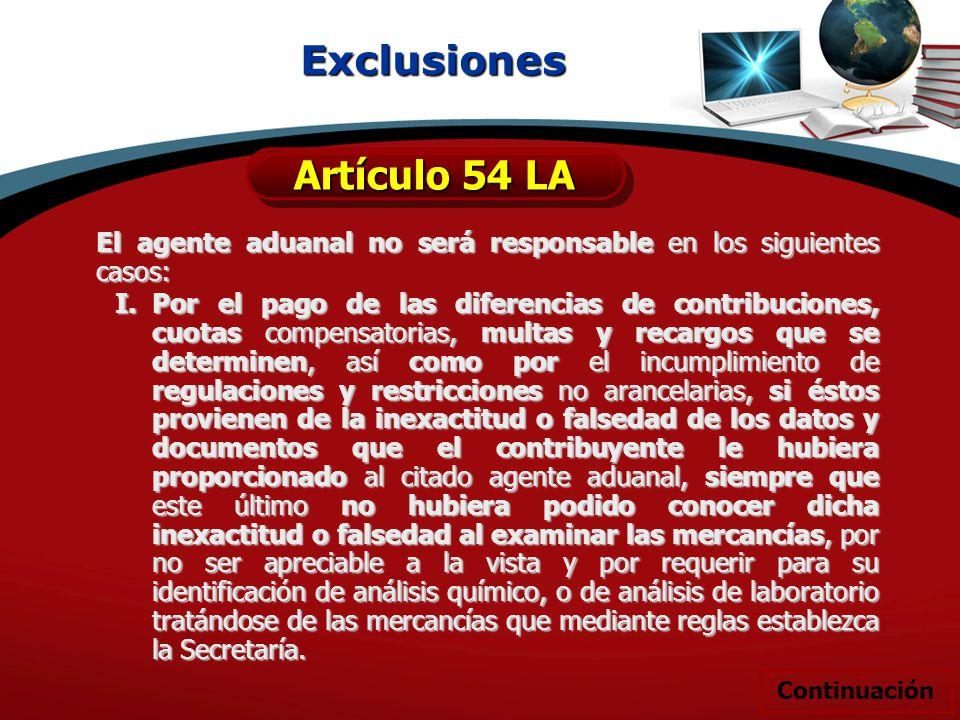 Exclusiones Artículo 54 LA