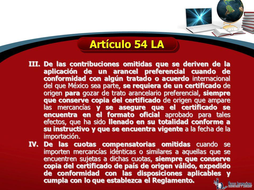 Artículo 54 LA