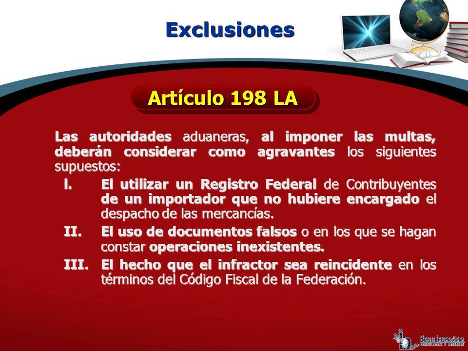 Exclusiones Artículo 198 LA