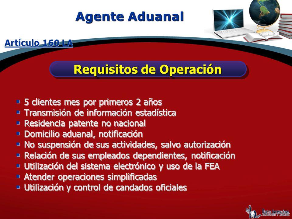 Requisitos de Operación