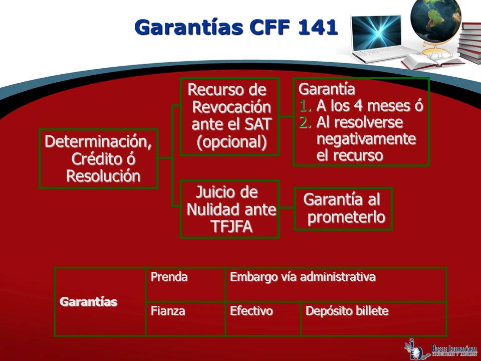 Garantías CFF 141 Recurso de Revocación ante el SAT (opcional)