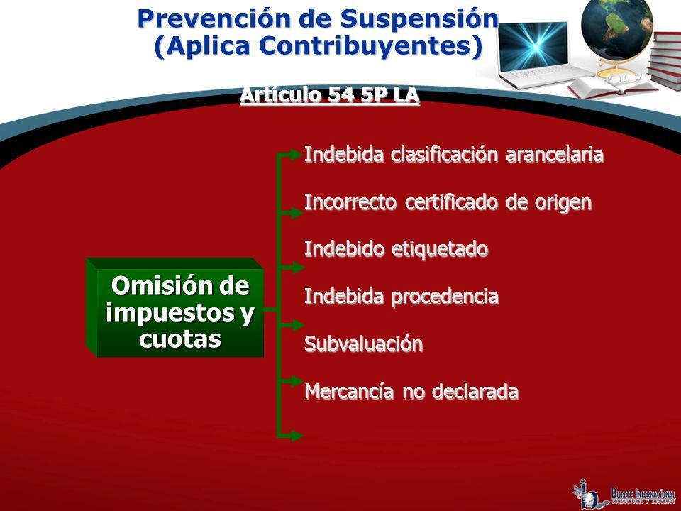 Prevención de Suspensión (Aplica Contribuyentes)
