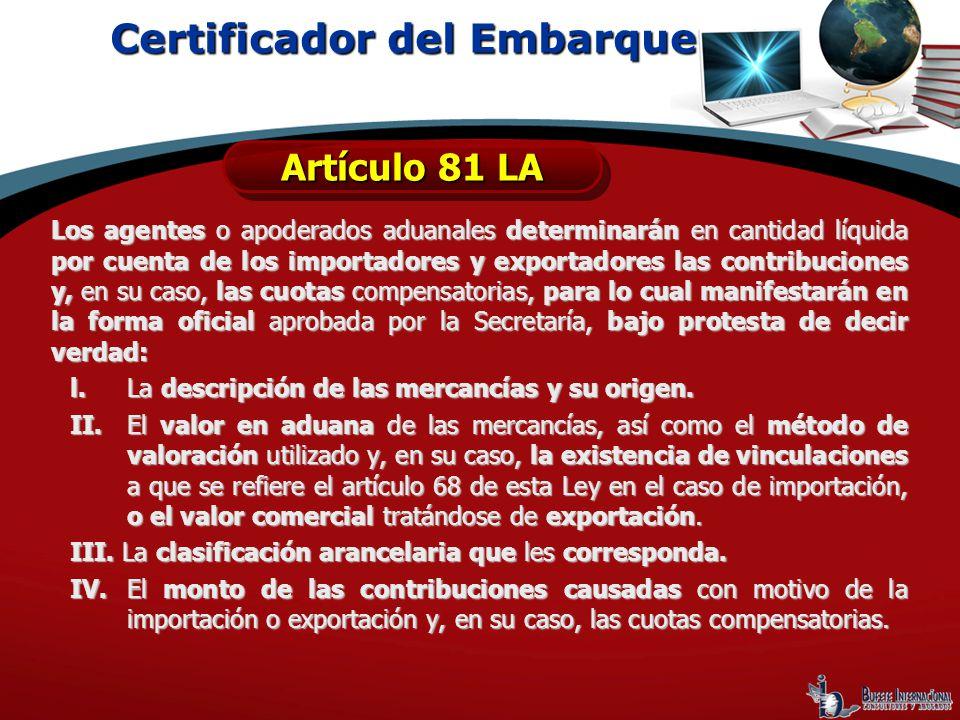Certificador del Embarque
