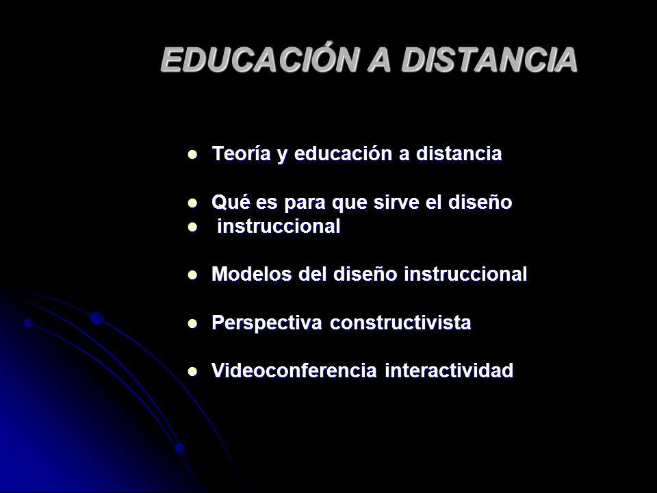 EDUCACIÓN A DISTANCIA Teoría y educación a distancia