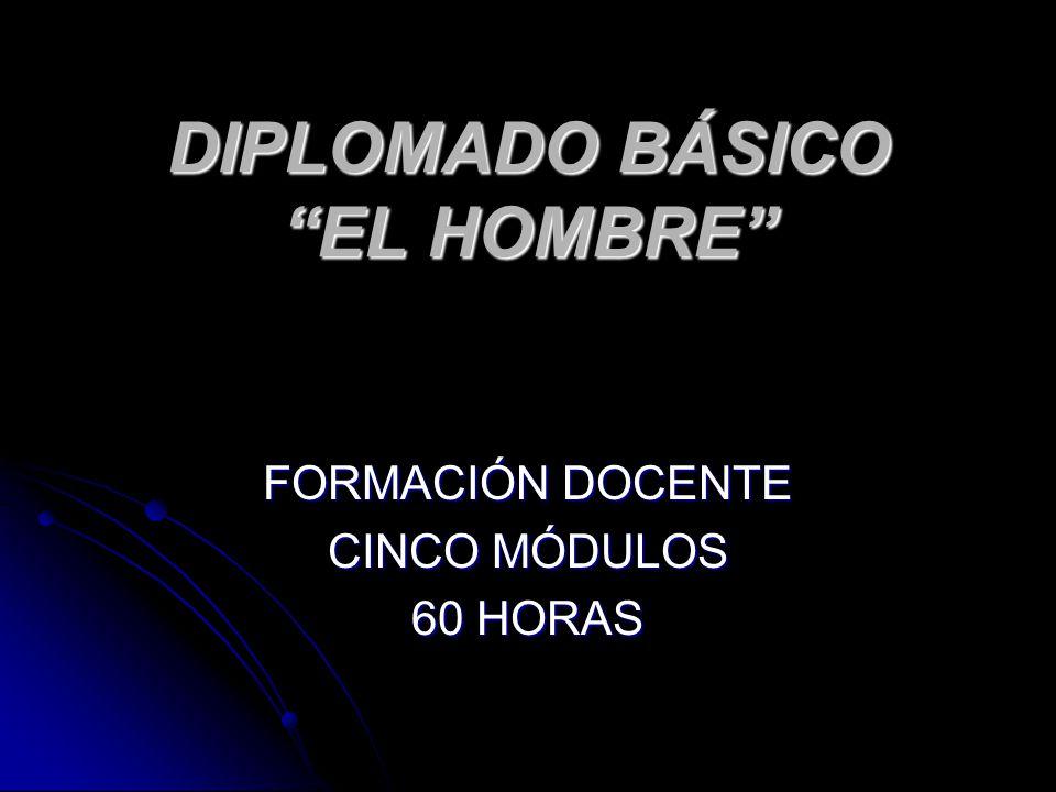 DIPLOMADO BÁSICO EL HOMBRE