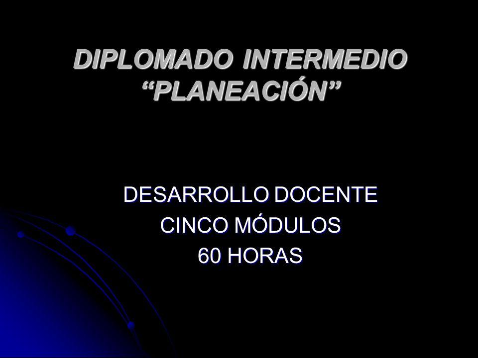 DIPLOMADO INTERMEDIO PLANEACIÓN