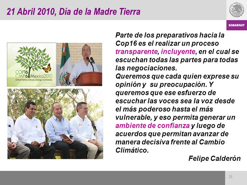 21 Abril 2010, Día de la Madre Tierra
