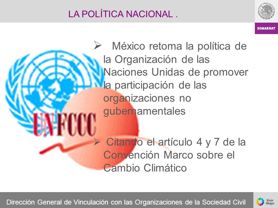 LA POLÍTICA NACIONAL .