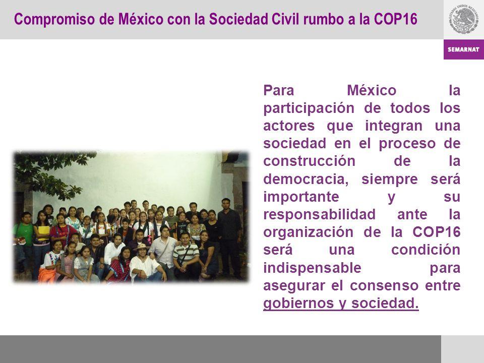 Compromiso de México con la Sociedad Civil rumbo a la COP16