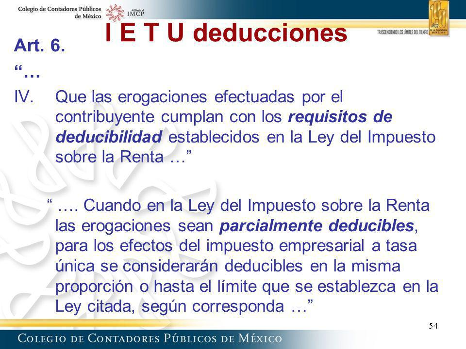 I E T U deducciones Art. 6. …