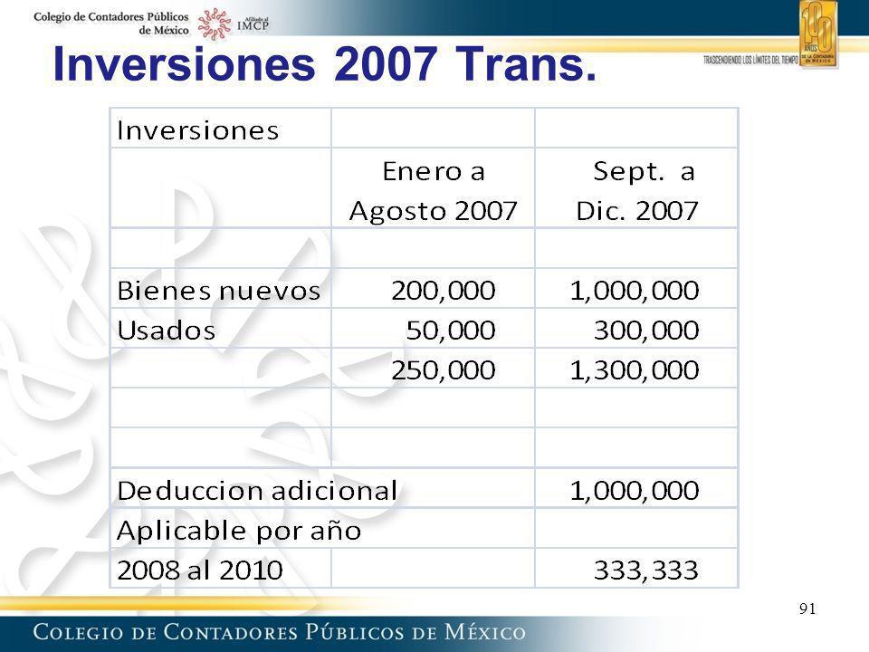 Inversiones 2007 Trans. 91 91