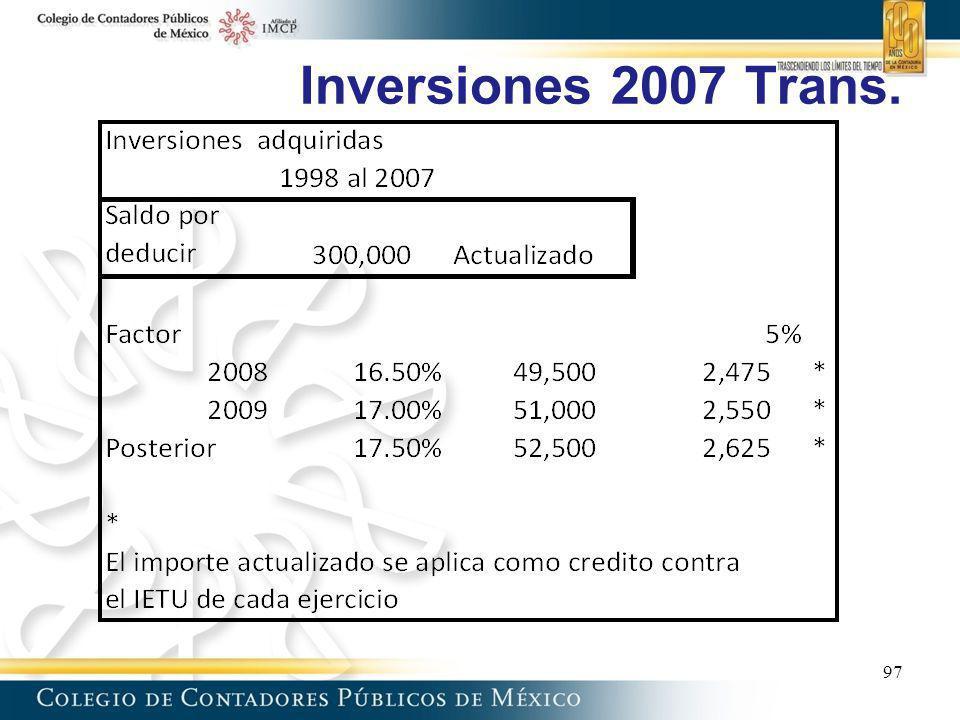 Inversiones 2007 Trans. 97 97