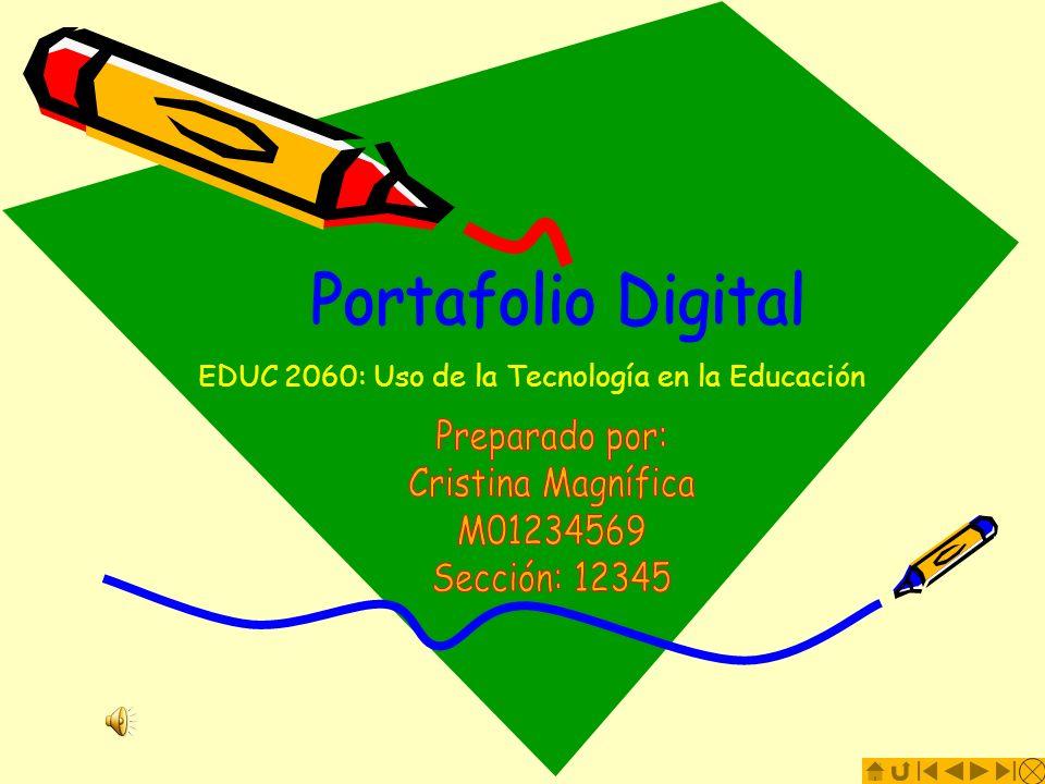 EDUC 2060: Uso de la Tecnología en la Educación