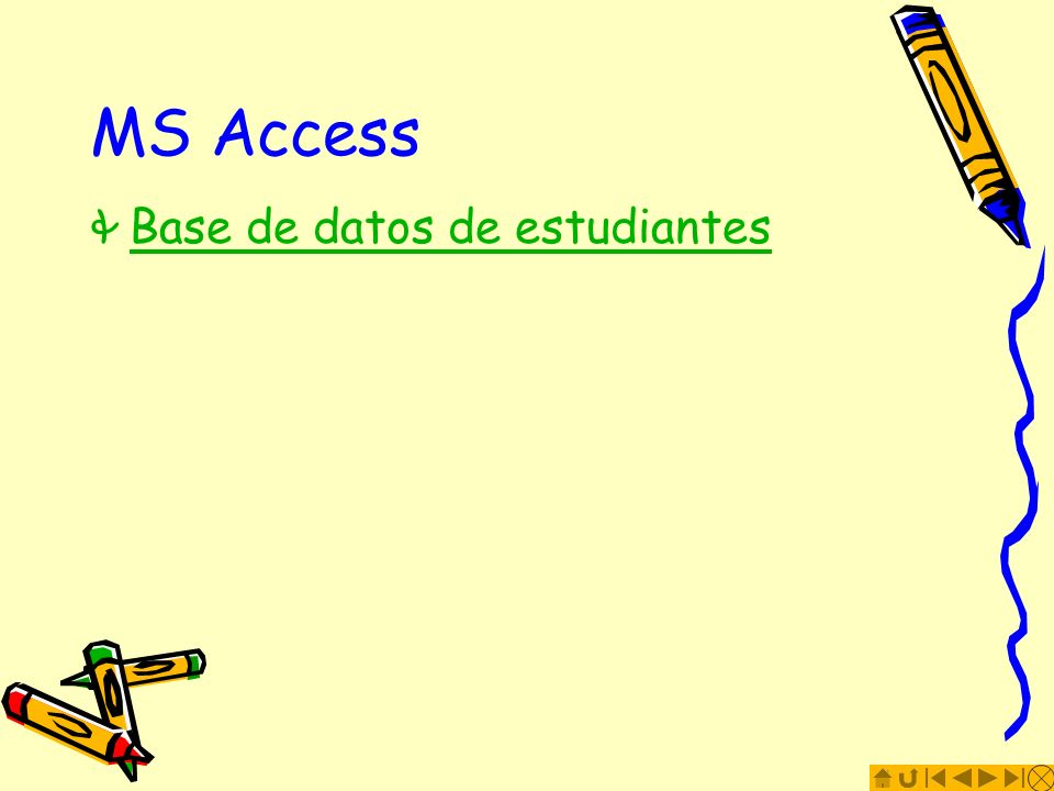 MS Access Base de datos de estudiantes