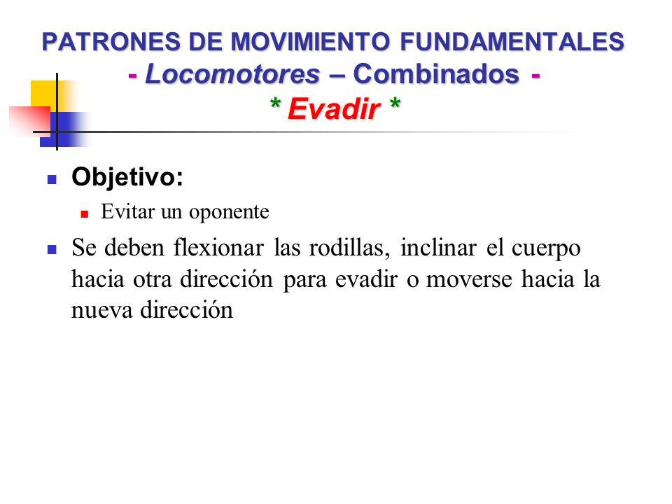PATRONES DE MOVIMIENTO FUNDAMENTALES - Locomotores – Combinados -