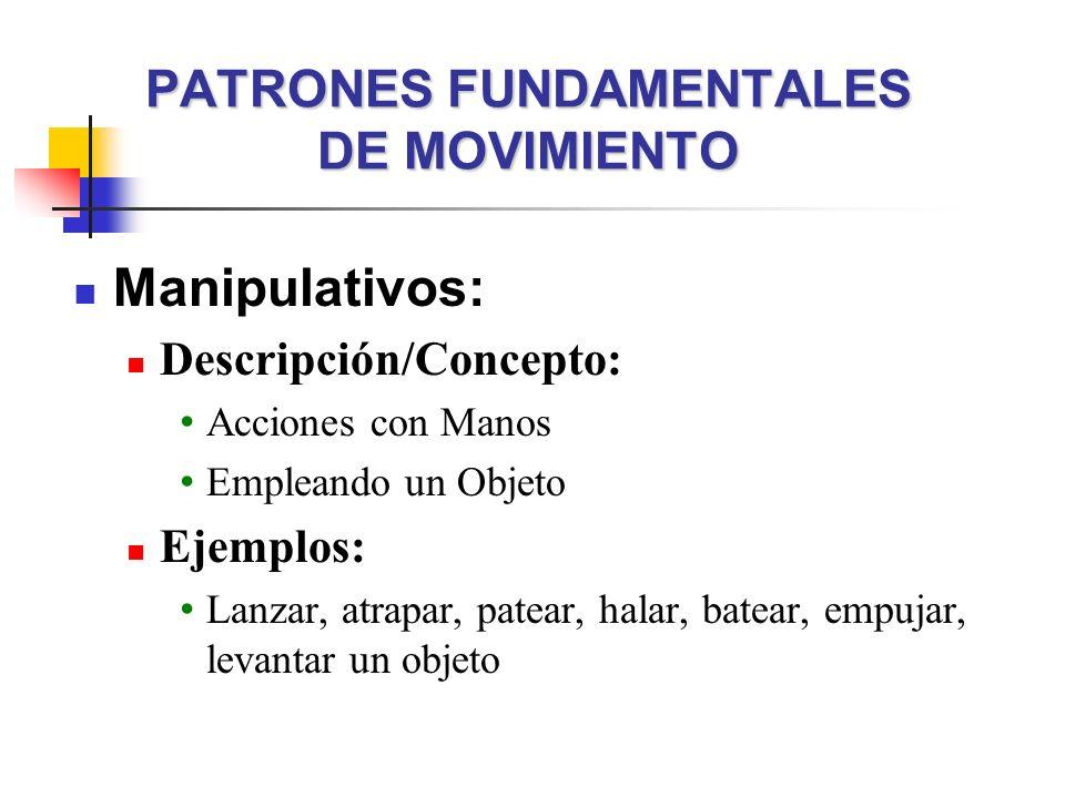 PATRONES FUNDAMENTALES DE MOVIMIENTO