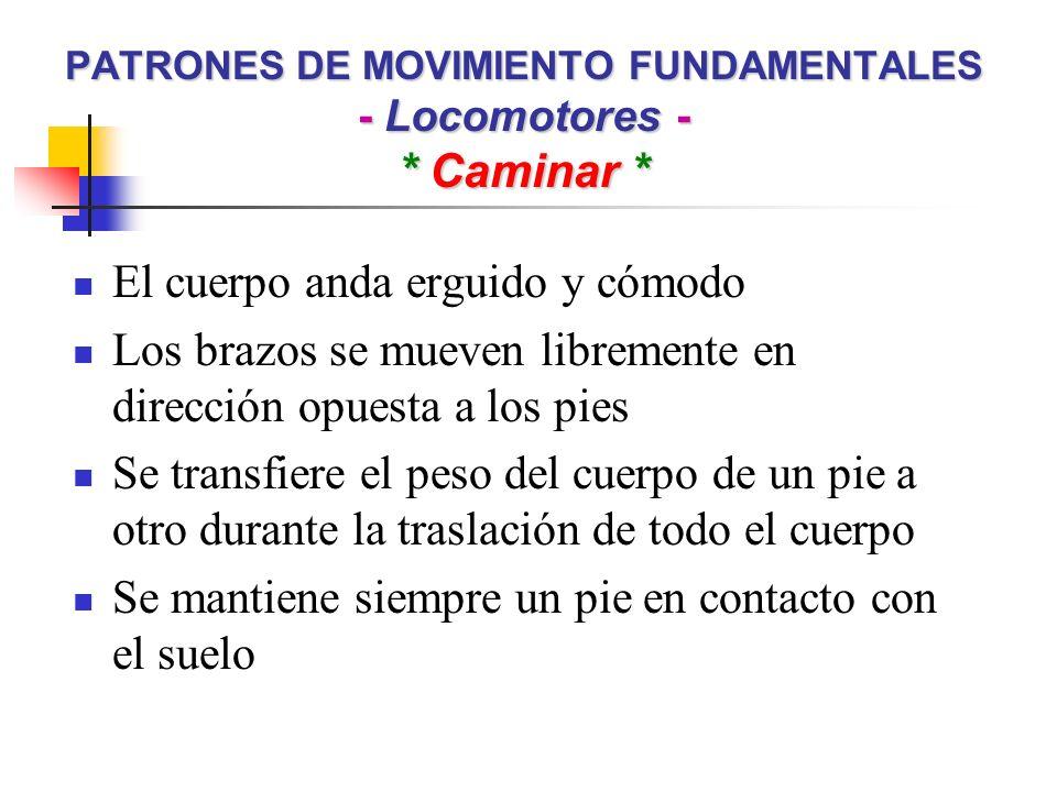 PATRONES DE MOVIMIENTO FUNDAMENTALES - Locomotores - * Caminar *