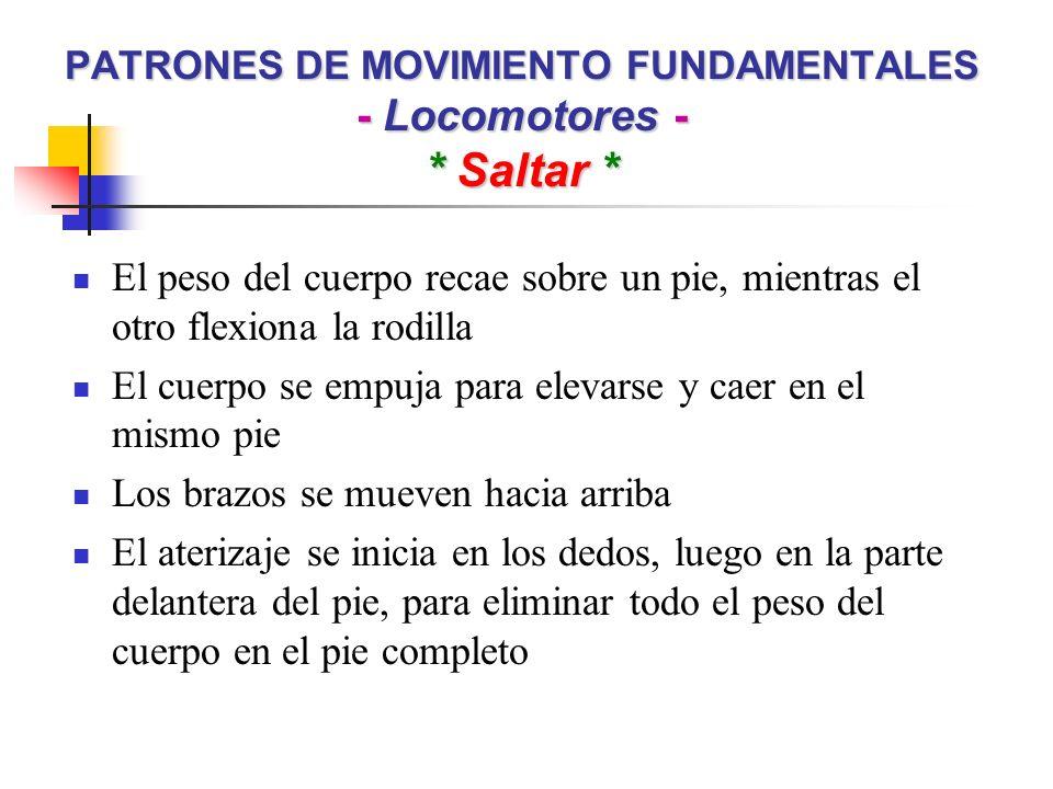 PATRONES DE MOVIMIENTO FUNDAMENTALES - Locomotores - * Saltar *
