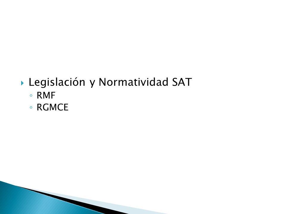 Legislación y Normatividad SAT