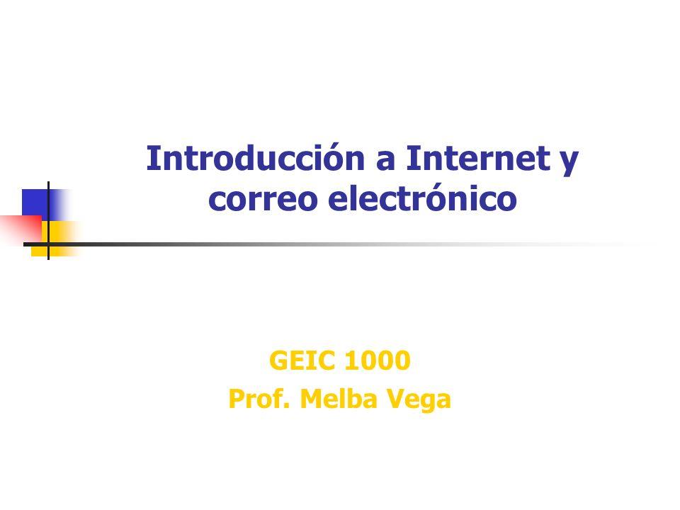 Introducción a Internet y correo electrónico