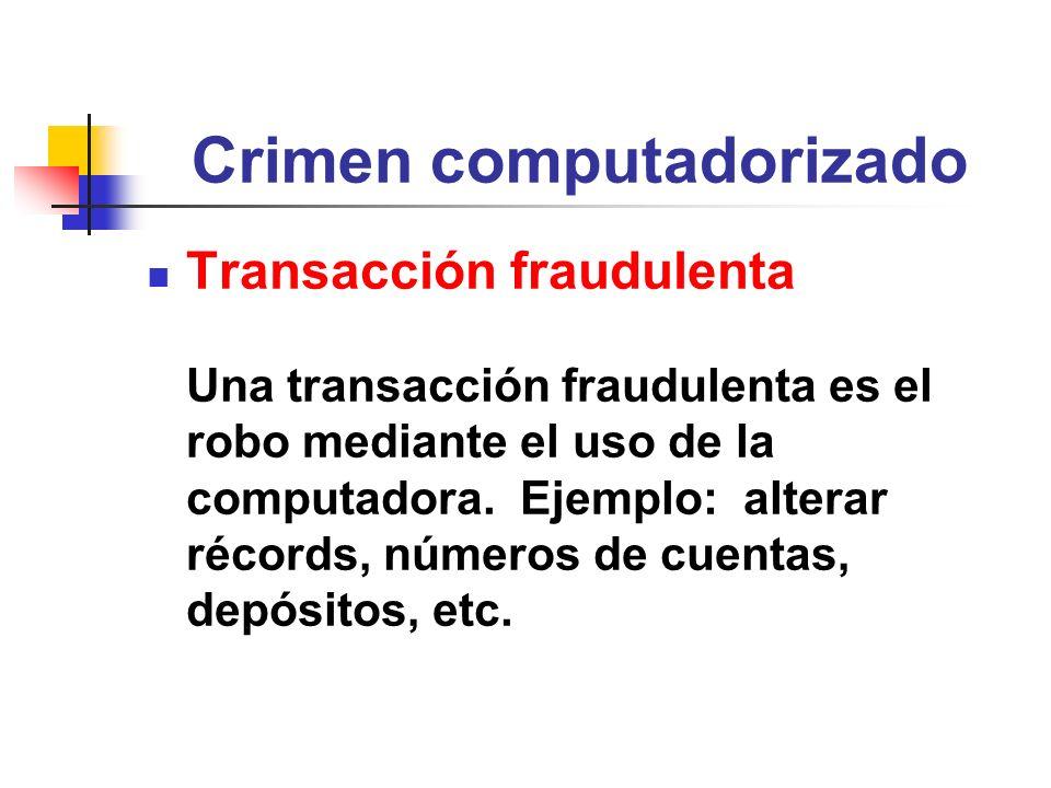 Crimen computadorizado