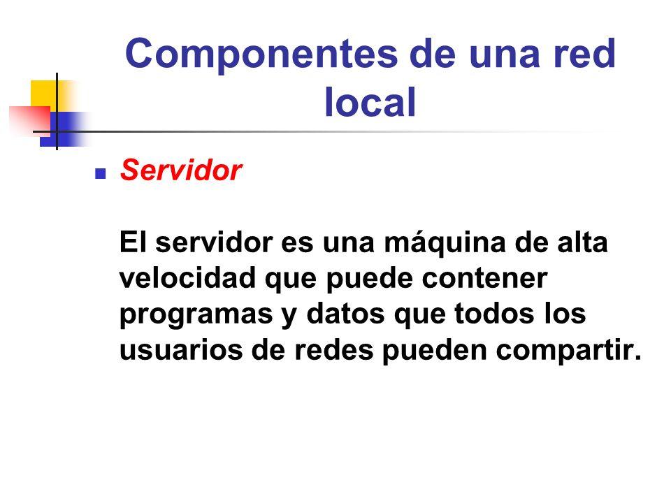 Componentes de una red local