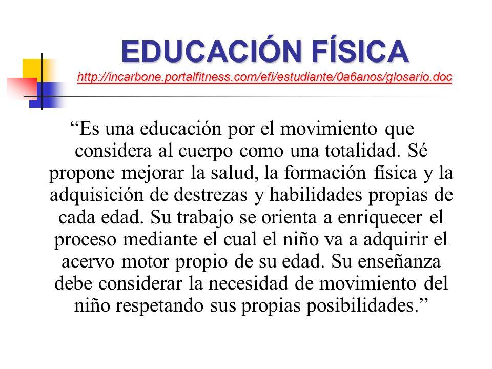 EDUCACIÓN FÍSICA http://incarbone. portalfitness