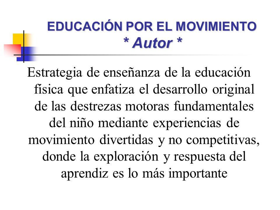 EDUCACIÓN POR EL MOVIMIENTO * Autor *