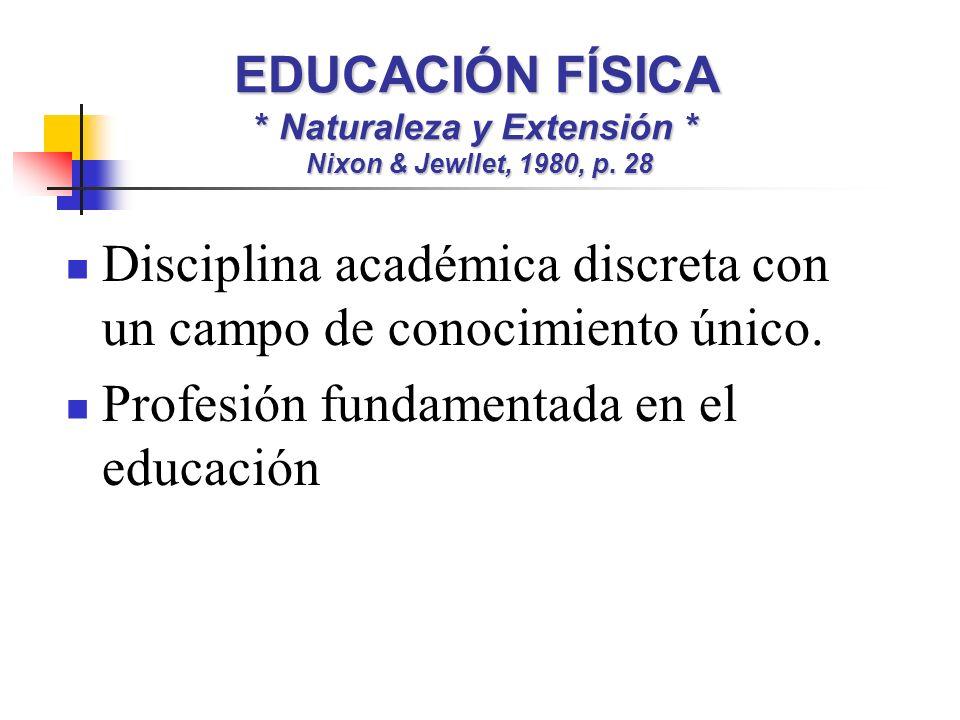 Disciplina académica discreta con un campo de conocimiento único.