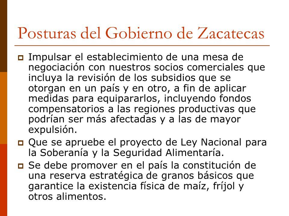 Posturas del Gobierno de Zacatecas