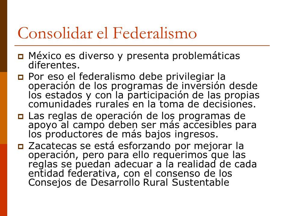 Consolidar el Federalismo