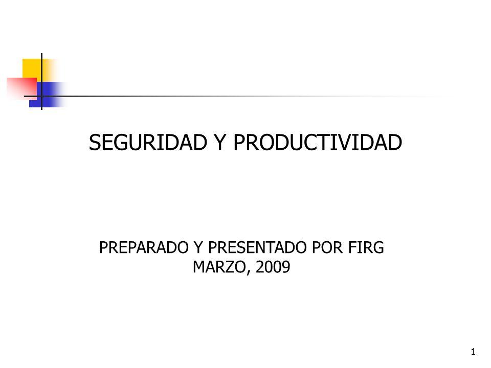 SEGURIDAD Y PRODUCTIVIDAD