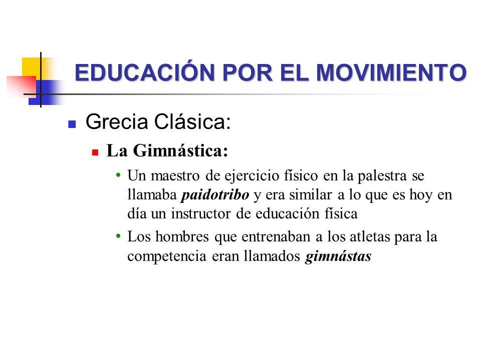 EDUCACIÓN POR EL MOVIMIENTO